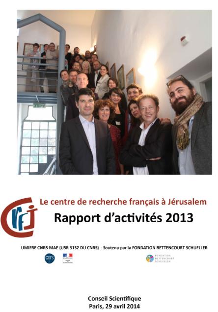 couverture rapport d'activités 2013