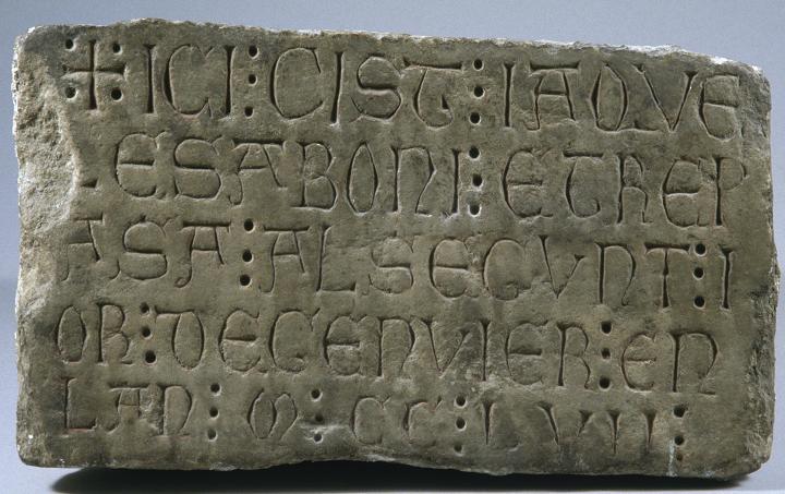 Epitaphe franque de 1258