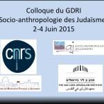 Colloque du GDRI Socio-anthropologie des Judaïsmes