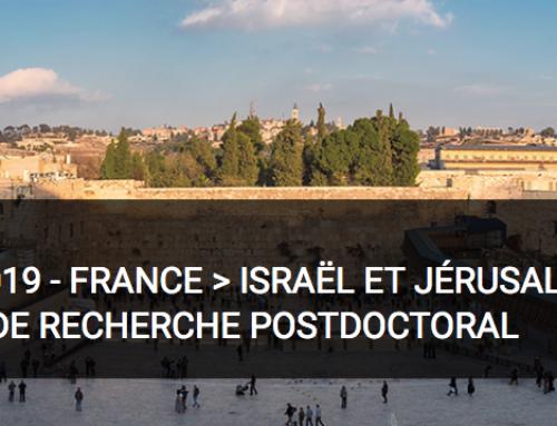 ATLAS 2019 – FRANCE > ISRAËL ET JÉRUSALEM | SÉJOUR DE RECHERCHE POSTDOCTORAL