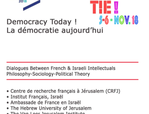 Colloque « Democracy today « : les 5 et 6  novembre 2018