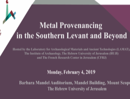 Workshop: Metal Provenancing in the Southern Levant and Beyond
