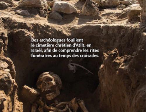La fouille archéologique d'Atlit (Yves Gleize) est sur les murs du métro Montparnasse-Bienvenüe