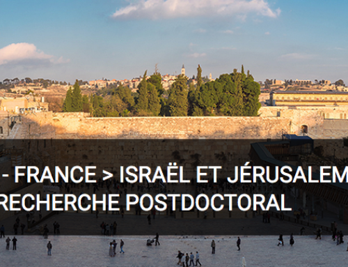 Bourse post-doctorale – Atlas 2020 – France > Israël et Jérusalem